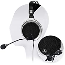 HIFIMAN HE400S Full Size Planar Headphone - INCLUDES - Antlion Audio ModMic Attachable Boom Microphone - Noise Cancelling w/ Mute Switch + Blucoil Y Splitter