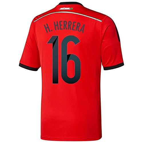 認識ベアリング企業Adidas H. HERRERA #16 Mexico Away Jersey World Cup 2014/サッカーユニフォーム メキシコ アウェイ用 ワールドカップ2014 背番号16 H.エレーラ