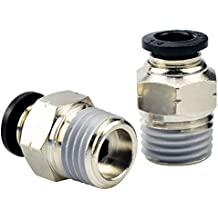Plastic Tee Push to Connect Tube Fittings 4 mm OD X M5 Male Thread Push Lock 2 Pieces