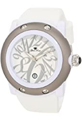 Glam Rock Women's GK1013-BLKC Miami Beach White Dial White Silicone Watch