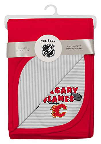 (Outerstuff NHL Calgary Flames Children Unisex Lil Center Blanket, 1 Size, Cool)