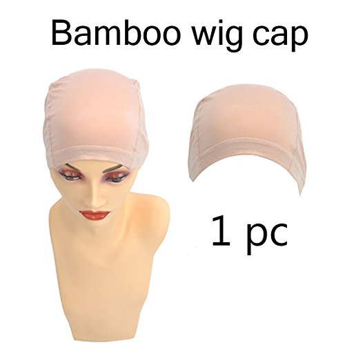 Wig Cap Construction (Bamboo Fiber/Sterilization/Sweat Proof/Wig Hair Stock Liner Cap Stretch Mesh Net 1PC)