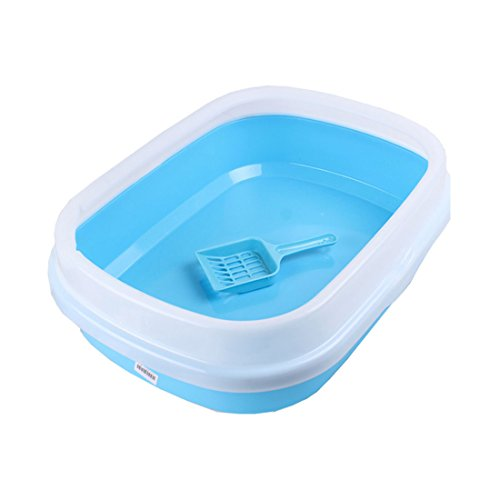 Cat Litter Box Semi -closed Anti-splash Cat Toilet Box Tray For Cats Plastic Pet Bedpan Dog Litter Tray Products For Cats Color random chic