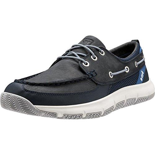 Helly Hansen 11314 Men's Newport F-1 Deck Shoe, Navy/Blue Nights/Vintage Indigo/Olympian Blue - 8.5 by Helly Hansen