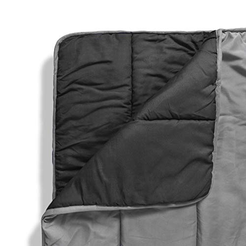 ViscoSoft - Reversible Down Alternative Comforter - Ultra Soft & Comfortable - Premium Microfiber Fill Never Clumps or Shifts - Hypoallergenic, Machine Washable - (Light Gray/Dark Gray) (Full/Queen) by ViscoSoft