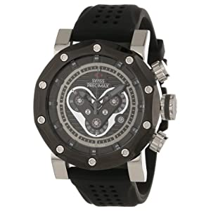 Swiss Precimax Men's SP13089 Vector Pro Sport Black Dial Black Silicone Band Watch