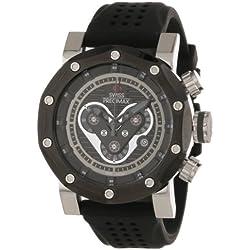 Swiss Precimax Men's SP13089 Vector Pro Sport Black Dial Black Silicone Band Watch