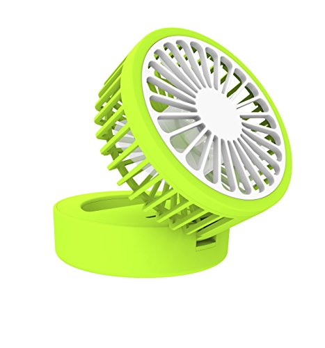 Wanchuang Small Portable Lemon Fan Rechargeable Battery Powered Adjustable Personal Fan Mini USB Rechargeable Handheld Fan for Home, Travel, Bedroom and Office (Green) by Wanchuang