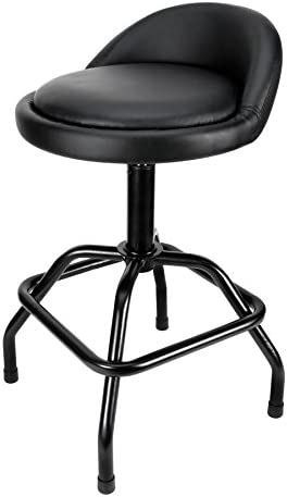Performance Tool W85011 Pneumatic Swivel Bar Stool with Back Support