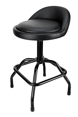 Performance Tool W85011 Pneumatic Swivel Bar Stool with Back Support, 1 Pack