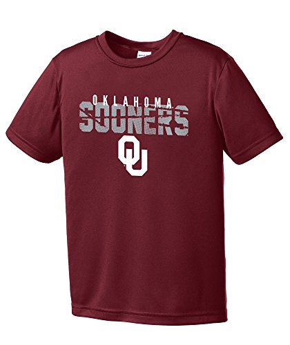 NCAA Oklahoma Sooners Youth Boys Destroyed Short sleeve Polyester Competitor T-Shirt, Youth - Store Sooner Oklahoma