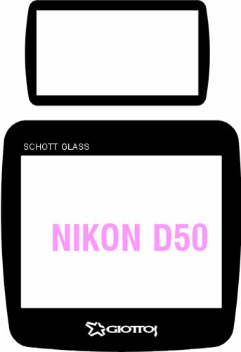 Giottos Aegis 49.5 x 47.5mm Professional Glass LCD Screen Protector for the Nikon D50, 12 Layers of Multi-Coatings Each Side. Giottos Glass Screen Protector