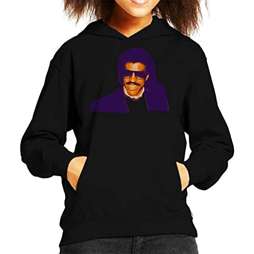 TV Times Pop Singer Lionel Richie 1985 Kid's Hooded Sweatshirt Black