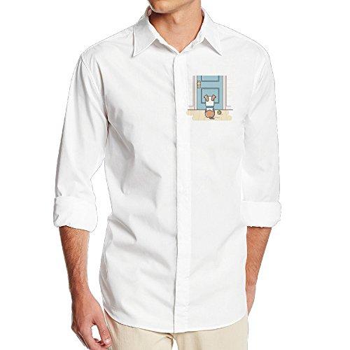 Boss-Seller Men's Unique The Secret Life Of Pets Max Long Sleeve Shirt Size S White