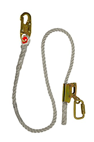 Elk River 34406 Quick-Adjustable Nylon Rope Positioning Lanyard with Carabiner and Zsnaphook, 3600 lbs Gate, 5/8'' Diameter x 6' Length by Elk River
