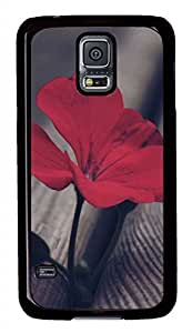 B Red Flowers PC Black Hard Case Cover Skin For Samsung Galaxy S5 I9600