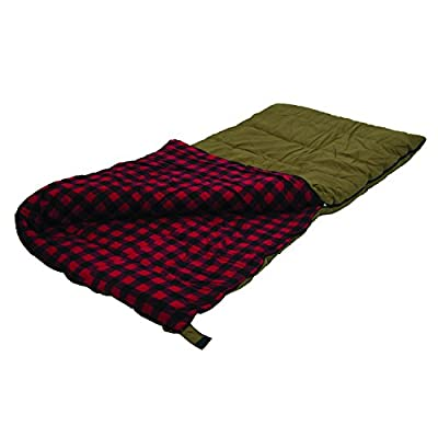 "Stansport Kodiak 6 Lb. Canvas Sleeping Bag, 81"" x 39"" - Brown"