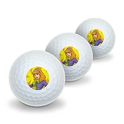 GRAPHICS & MORE Scooby Doo Daphne Character Novelty Golf Balls 3 Pack