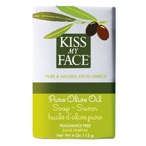 (Kiss My Face Pure Olive Oil Bar Soap - 4 oz, 6 pack (image may vary) )
