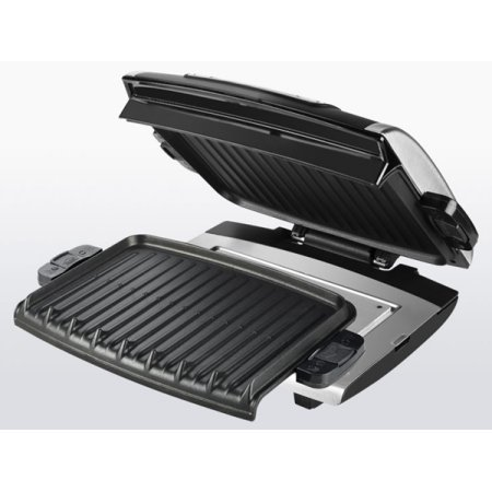 george-foreman-nonstick-removable-plate-digital-electric-grill-with-2-trays-and-spatula