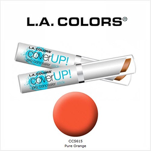 2 Pack L.A. Colors Cosmetics Cover Up! Pro Concealer Stick 6