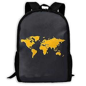 BGKASUH Mochila de viaje ligera con estampado de mapamundi, resistente al agua, mochila para portátil, mochila de 17 pulgadas