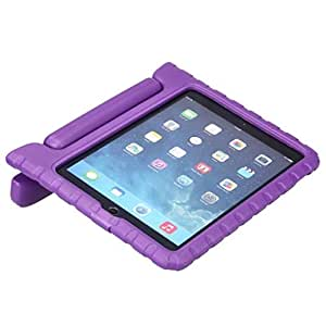Kids ShockProof Safe Foam Case Handle Cover Stand for Apple iPad 3 Purple