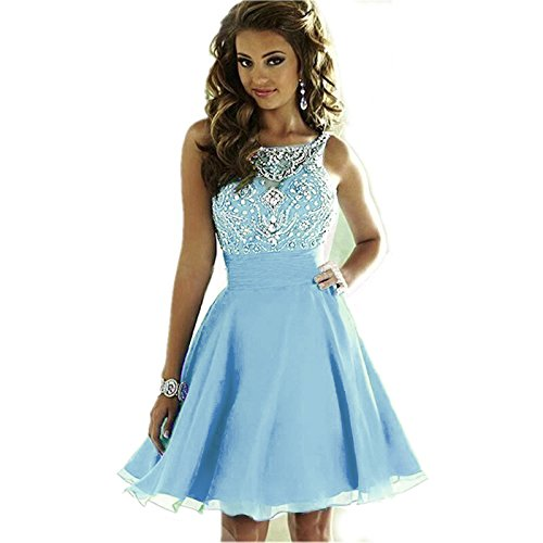 5acc6a343f13 ... Women's Sparkly Beading Prom Dresses Short Homecoming Dresses 2018 for  Juniors. ; 