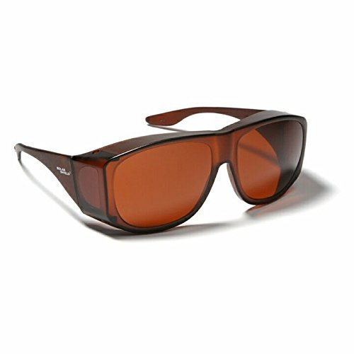 Blue Blocking Sun Shield Brown With Amber - Eyeglasses Amber