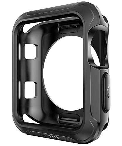 V85 Compatible Apple Watch Case 42mm, Shock-proof and Shatter-resistant Protector Bumper iwatch Case Compatible Apple Watch Series 3, Series 2, Series 1, Nike+,Sport, Edition Black by V85 (Image #1)