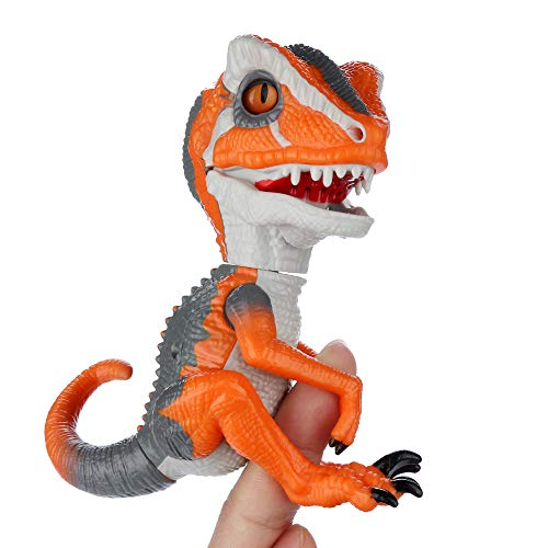 Gotian Wild Roars Action Finger Dinosaur Toys - Intelligent Sensor with Chomping Movable Jaws Realistic Dinosaur Model - for Kids Christmas Birthday Presents Gifts - Batteries Included (C) -