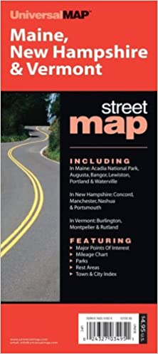 Buy Maine New Hampshire Vermont Um2 125 State Fold Map Book Online At Low Prices In India Maine New Hampshire Vermont Um2 125 State Fold Map Reviews Ratings Amazon In