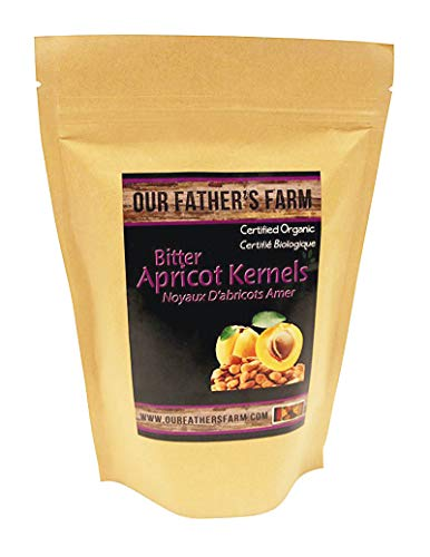 Apricot Kernels/Seeds (1 Pound / 454 grams) Our Father's Farm Bitter Certified Organic Raw