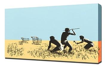 Banksy - carrito Hunters - lámina de reproducción de teclado de - patrones e instrucciones para hacer 40,64 cm x 60,96 cm: Amazon.es: Hogar