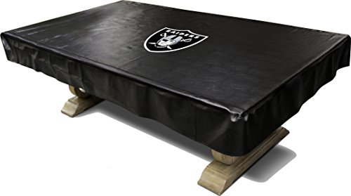 Imperial Officially Licensed NFL Merchandise: Billiard/Pool Table Naugahyde Cover, 8-Foot Table, Oakland Raiders