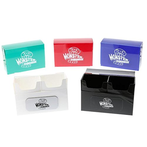 Deck Set Box - Deck Box - Magnetic Double Deck Boxes By Monster (Set of 5) - Fits Mtg Magic, Yugioh, and Pokemon