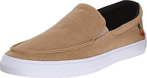 Vans Mens Bali SF Slip On Shoe (6.5 US, Hemp Khaki/Rasta)
