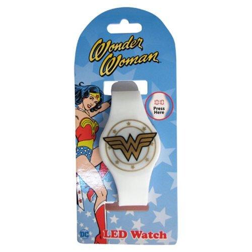 - Wonder Woman White Gold Emblem LED Watch