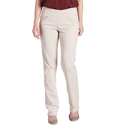 Jag Jeans Women's Petite Peri Straight Pull on Jean, Ston...