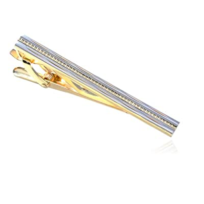 Digabi Gold Fashion Circle Tie Clip with Gift Box