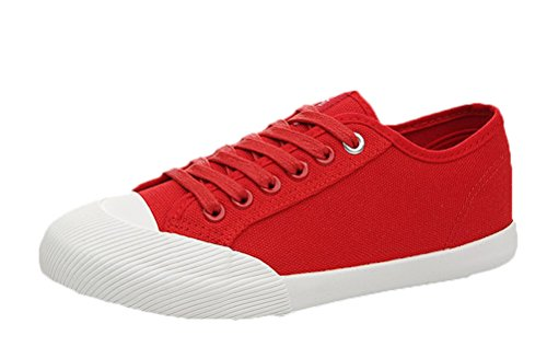 Passionow Women's Stylish Breathable Lace-up Cap Toe Flat Fashion Sneakers Walking Shoes (7 (Grecian Dessert)