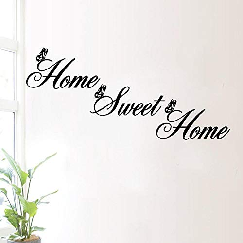 Quietcloud Art Wall Stick Sweet Home Proverb Wall Sticker Living Room Bedroom Wallpaper Decals Art Decor Black by Quietcloud (Image #4)