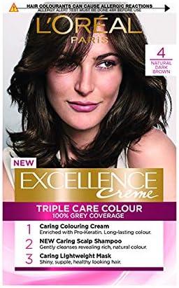 LOreal Excellence - Tinte permanente 4, color marrón oscuro natural