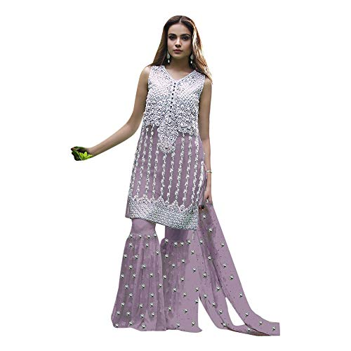 Full Donna Abito Gather Emporium Ethnic Collezione Bead Designer Kameez Purple 7151 Musulmano Work Sposa Da Salwar Bollywood Garara Rwtqfgq