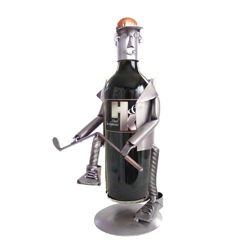Golf Frustration Wine Bottle Holder H&K Steel Sculpture - - Wine Frustration