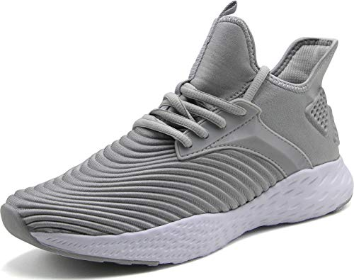 (Weweya Running Shoes Men Athletic Gym Casual Walking Shoes Light Grey 10.5 M US Tennis & Racquet Sports Shoes Fitness & Cross-Training Shoes Cycling Road Running Sneakers)