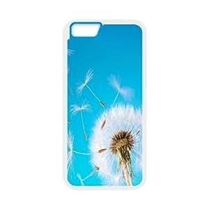 Naza Dandelion & Flower IPhone 6 Cases Dandelion Seeds Protector for Girls, Iphone 6 Cases for Girls Cheap, [White]