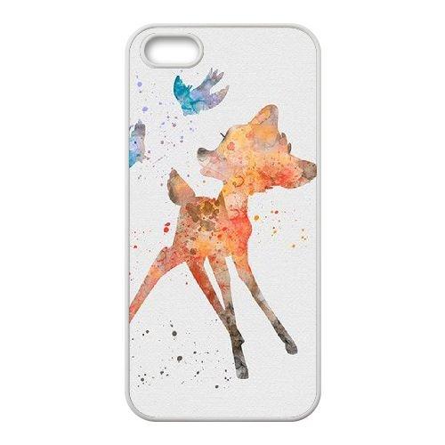 Bambi coque iPhone 5 5S Housse Blanc téléphone portable couverture de cas coque EBDOBCKCO10866