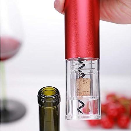 Sacacorchos de vino eléctrico doméstico automático de acero inoxidable sacacorchos de vino sacacorchos multifuncional (con cortador de papel), se puede seleccionar un total de cinco colores