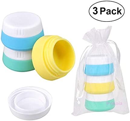 55388d7bc475 Silicone Cream Jars Travel Accessories Containers with Hard Sealed Lids  20ml Per Piece 3 Pieces for Face Hand Body Cream